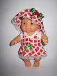 Платье с панамкой для  пупса Паола Рейна Красная Шапочка (ПР101) Dutunka