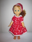 Летнее платье для советской куколки 32 см Красная шапочка (К12) Dutunka