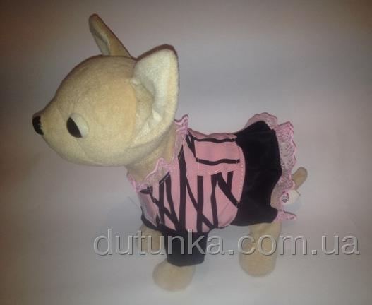 Платье для интерактивной собачки Чи Чи Лав Красное и розовое (ЧЧЛ126) Dutunka