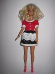 Платье для куклы Барби Красное и черное(Б160) Dutunka