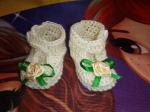 Вязаные туфельки для пупса Беби борн Миледи (ББ965) Dutunka