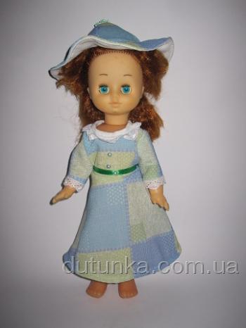 Платье для советской куколки Голубое (К23) Dutunka
