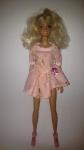 Летнее платье для куклы Барби Розовое(Б232) Dutunka