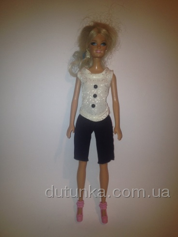 Комплект одежды с шортами для куклы Барби Стильный (Б243) Dutunka