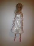 Платье для куклы Барби Белый атлас (Б258) Dutunka
