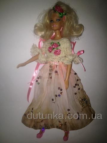 Платье бальное для куклы Барби Аврора2 (Б261) Dutunka