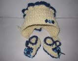 Комплект шапочка и топики пупса-девочки Леди (ББ305) Dutunka