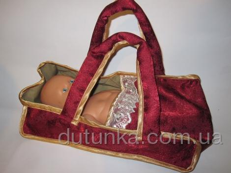 Кукольная переноска для пупса ростом до 34 см (К32-40) Dutunka