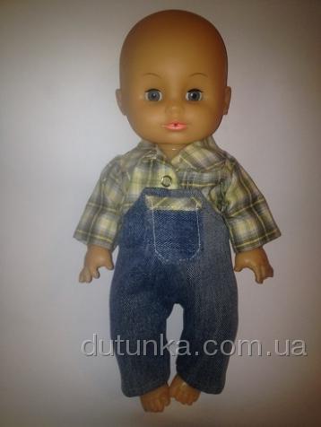 Комплект с рубашечкой и джинсовым комбезиком (К35-20) Dutunka