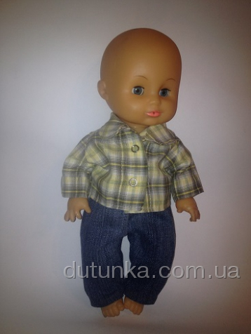 Комплект с джинсами для пупса-мальчика Стиляга (К35-22) Dutunka