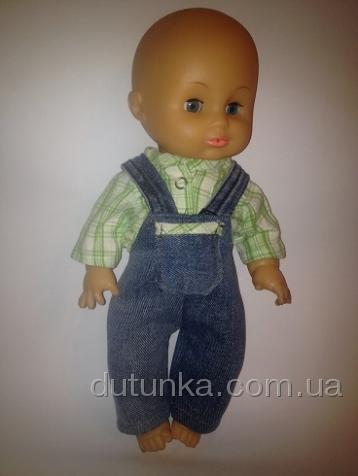 Комплект одежды для пупса с джинсовым комбинезоном (К35-23) Dutunka