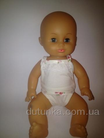 Кукольные трусики и маечка для пупса Молочный (К35-8) Dutunka
