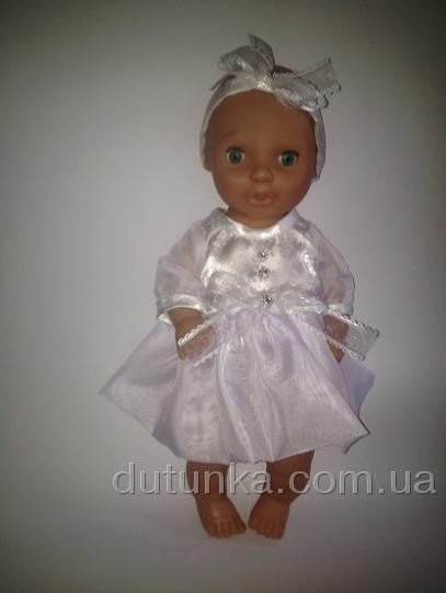 Платье  пупса девочки Белоснежное (К38-151) Dutunka