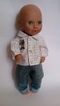 Комплект  для пупса-мальчика с джинсовыми штанами и рубашкой Том ( К38-162) Dutunka