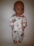 Теплая пижамка для пупса ростом 38 см Сладкие сны (К38-203) Dutunka