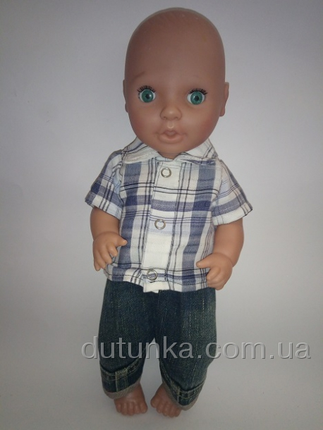Комплект одежды джинсы и тенниска для пупса-мальчика (К38-212) Dutunka