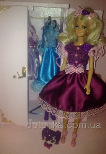 Платье бальное для куклы Барби Фиалковое (Б3)нет в наличии Dutunka