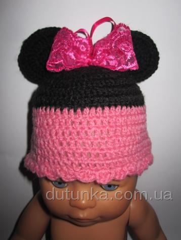 Шапочка для пупса-девочки Baby Born Микки (ББ518) Dutunka