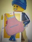 Детский фартук для девочки Полосатик (Ф52) Dutunka