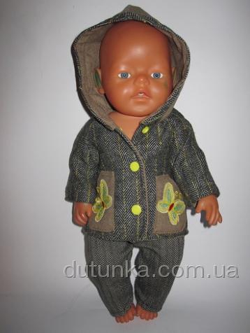 Комплект верхней одежды для пупса Беби Борн Бабочки (ББ540) Dutunka