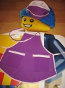 Фартук кухонный для девочки 3-5 лет (Ф57) Dutunka
