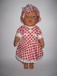 Летнее платье для пупса Беби бон Красное в клеточку (ББ643)нет в наличии Dutunka