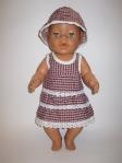 Платье нарядное летнее с панамочкой для пупса Беби бон Лизабет(ББ644) Dutunka