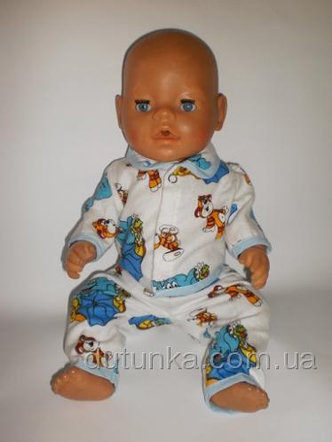 Баевая пижамка для пупса Беби борн (ББ652) Dutunka