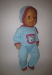 Человечек с шапочкой для пупса Беби борн Голубой (ББ712) Dutunka
