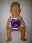 Комплект трусы и майка для пупса беби борн Фиолетовый полосатик (ББ715) Dutunka
