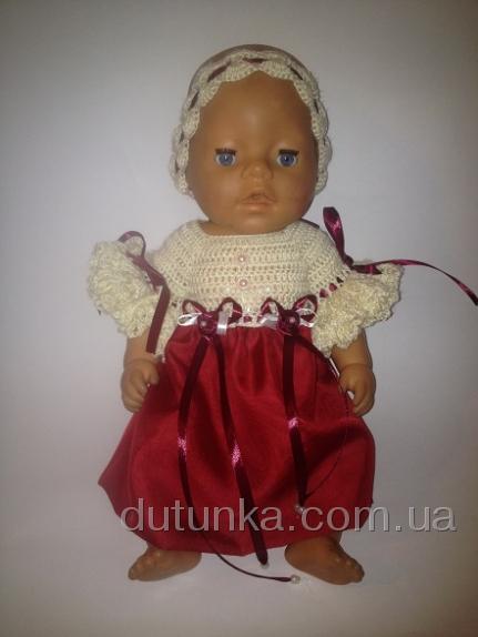 Бальное платье для пупса-девочки Беби Борн Гранд леди (ББ735) Dutunka