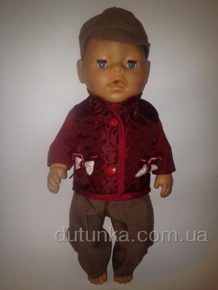 Комплект демисезонной одежды для пупса Беби борн Мой стиль (ББ739) Dutunka