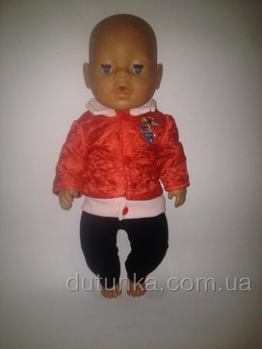 Зимняя красная куртка для пупса Беби Борн Reddy (ББ741) Dutunka