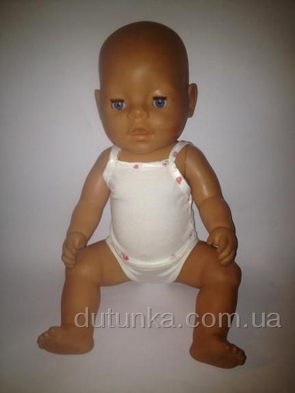 Комплект белья для пупса Беби Борн Молочный (ББ751) Dutunka