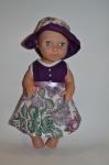 Летнее платье с панамкой для куколки 38 см Фаина (К38-300) Dutunka