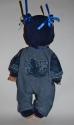 Человечек джинсовый c шапочкой для пупса 35 см (К32-46) Dutunka