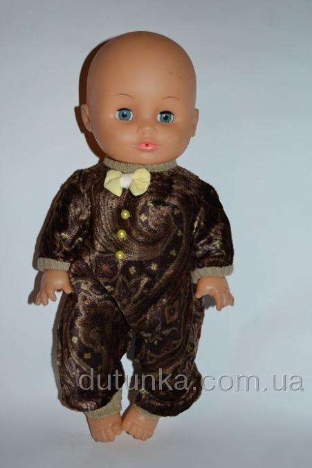 Комбинезон-человечек для куклы Коричневый (К32-51) Dutunka