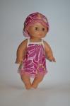 Платье летнее для пупса 35 см Розовое (К35-66) Dutunka
