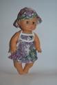 Платье летнее для пупса 35 см Фиолетовое (К35-65) Dutunka
