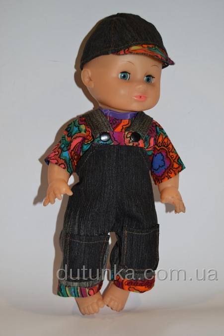 Комплект одежды для пупса с джинсами на лямочках Нарядный (К35-66) Dutunka