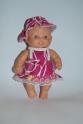 Летний сарафанчик с панамочкой для пупса Паола Рейна Розовый (ПР120) Dutunka