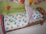Постельный комплект для куколки Barbie Веселые бабочки (Б202) Dutunka