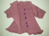 Комплект-тройка вязаной одежды для девочки Сиреневая мечта   (ББ225)  Dutunka