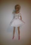 Платье для Барби Белое  двухъярусное (Б254)нет в наличии Dutunka