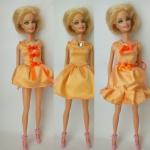 Платье для куклы Барби Персиковое(Б246) Dutunka