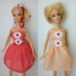 Платье летнее для куклы Барби Ромашки (Б264) Dutunka