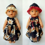 Платье для пупса-девочки Беби Борн Азалия (ББ706) Dutunka