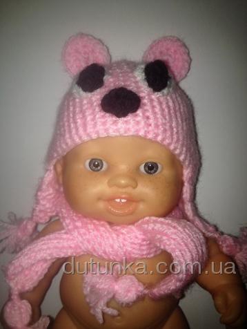 Шапочка и шарфик для пупса Паола Рейна Мишутка (ПР160) Dutunka