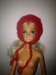 Вязаная теплая шапочка-капор для куколки Барби (Б124) Dutunka