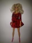 Красное платье для куклы Барби Пламя (Б214) Dutunka
